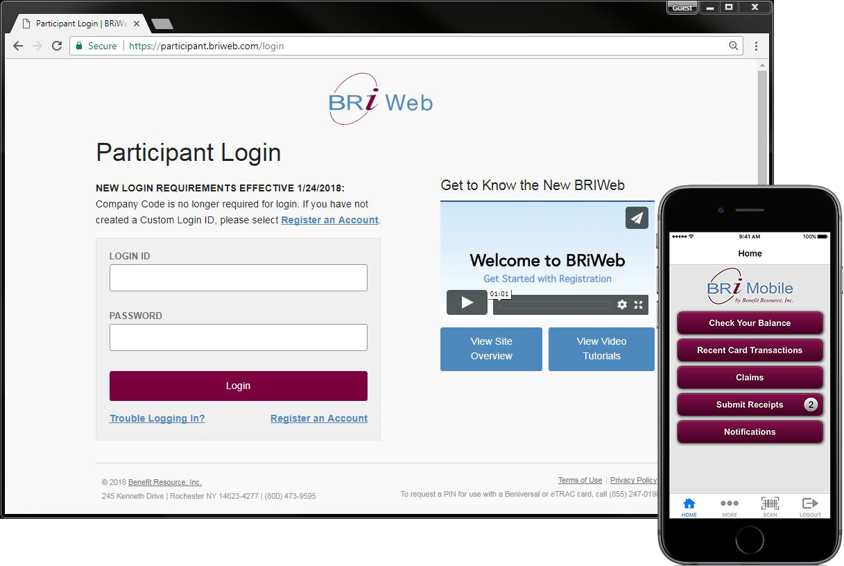 BRiWeb/Mobile Login Screens