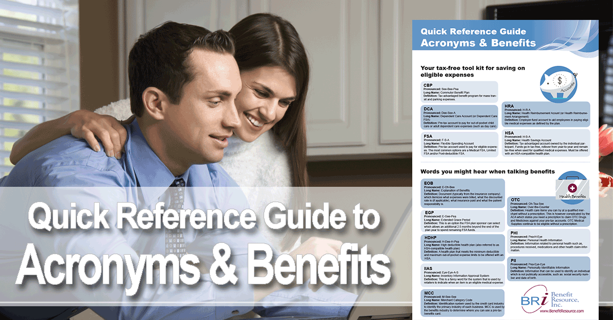 Acronyms used in benefits
