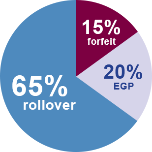 65% of employers offer FSA rollover