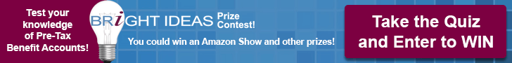 Test your knowledge on pre-tax benefit accounts for a chance to win an Amazon Show and other prizes.