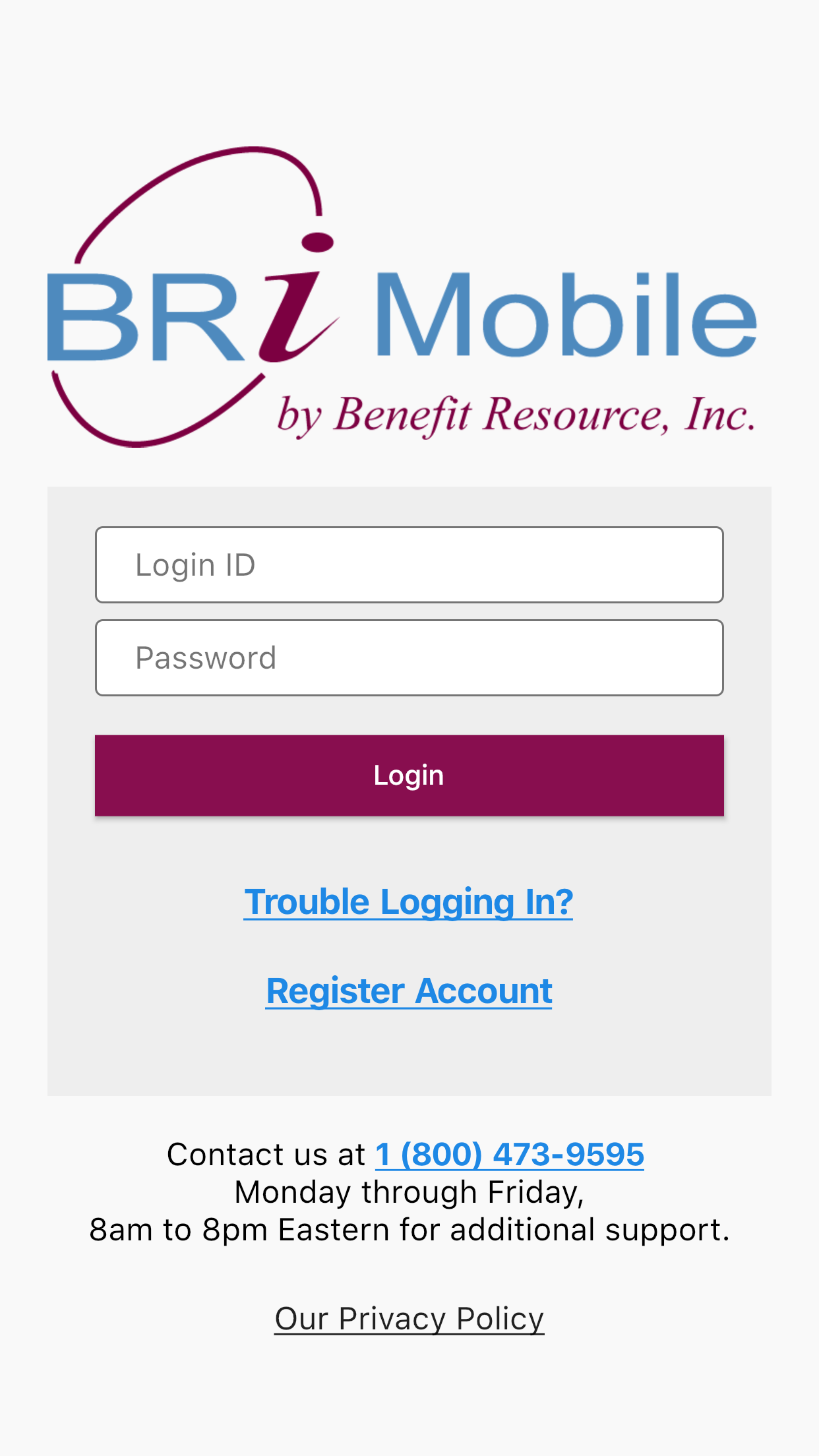 BRiMobile Login
