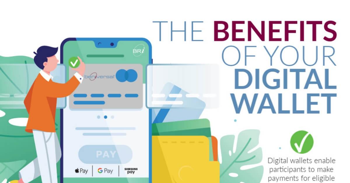 digital wallet infographic