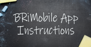 BRiMobile App Instructions