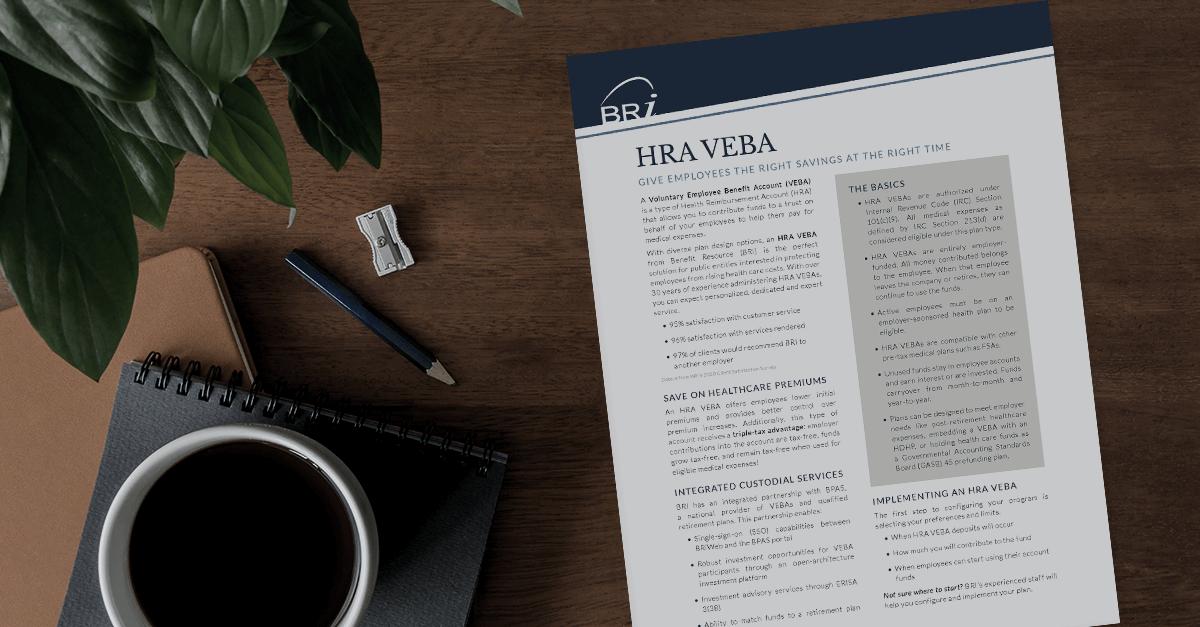 [Flyer] HRA Voluntary Reimbursement Account (VEBA) Prospect Flyer