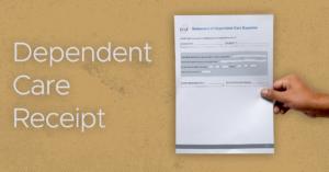 Dependent Care Receipt