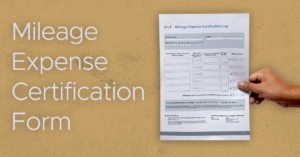 Mileage Expense Certification Form