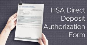 HSA Direct Deposit Form