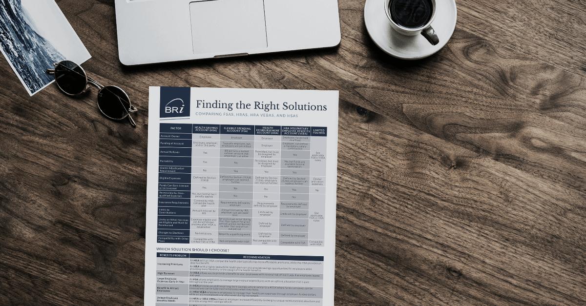 [Flyer] Comparing Pre-tax Health Accounts