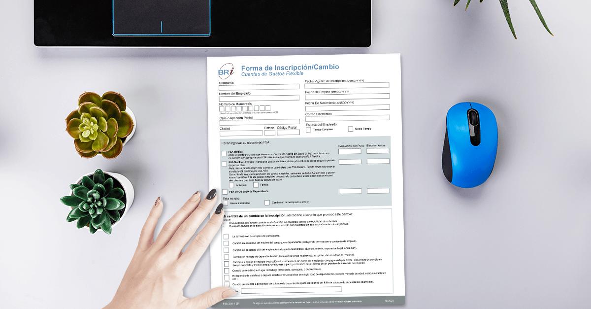 [Form-Spanish] FSA Enrollment/Change Form
