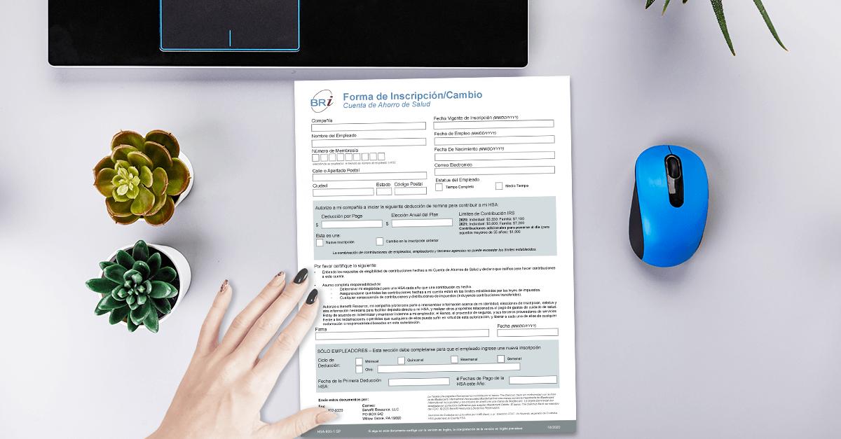 [Form-Spanish] HSA Enrollment/Change Form (HSA Bank)
