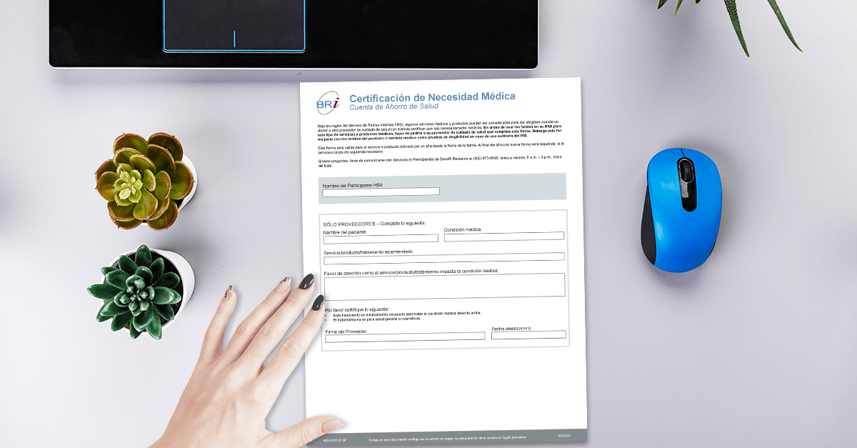[Form-Spanish] HSA Medical Necessity Directive Form