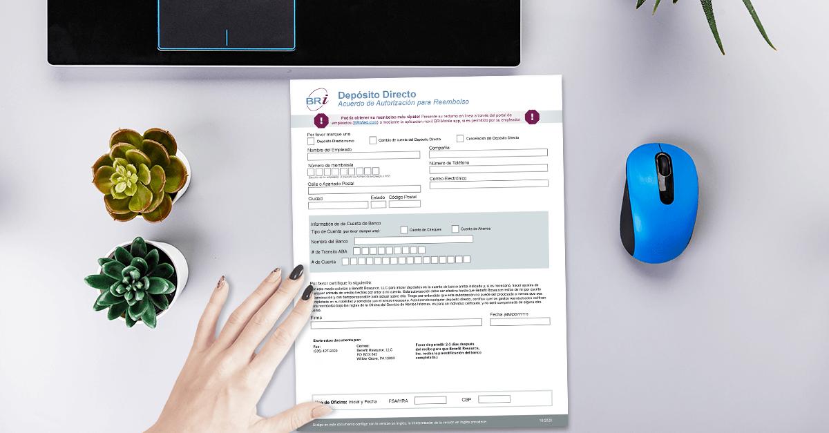 [Form-Spanish] Direct Deposit Authorization Form