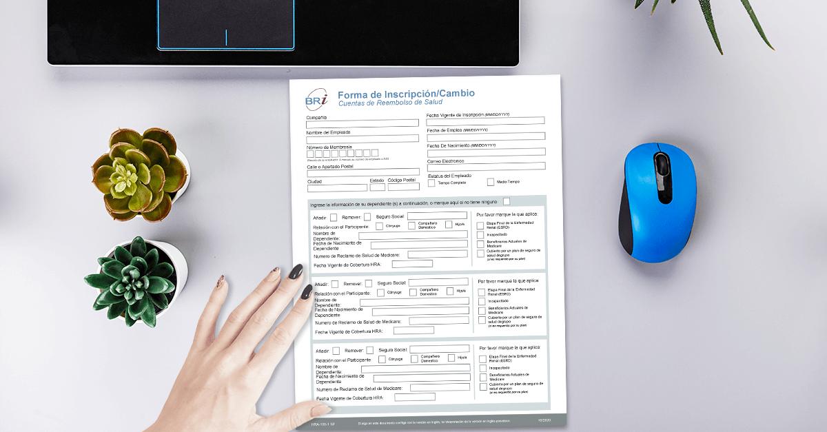 [Form-Spanish] HRA Enrollment/Change Form