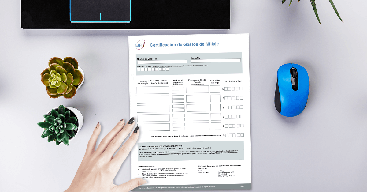[Form-Spanish] Mileage Expense Certification Form