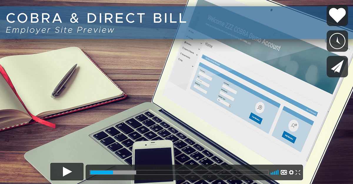 [Video] COBRA & Direct Bill Portal Overview