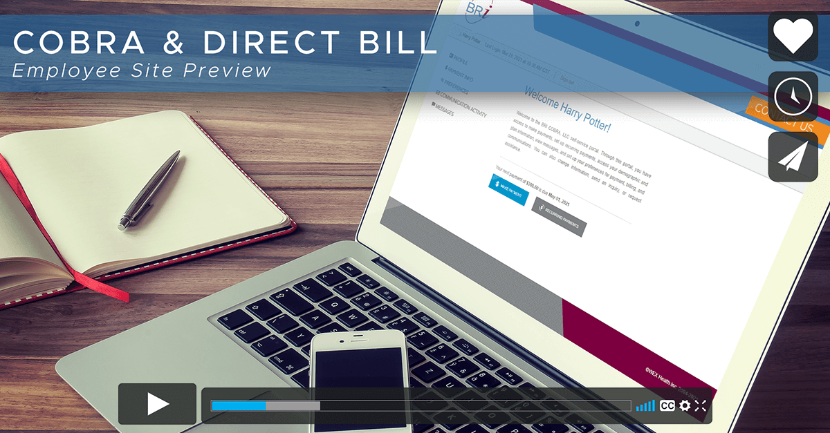 [Video] COBRA & Direct Bill Participant Portal Overview