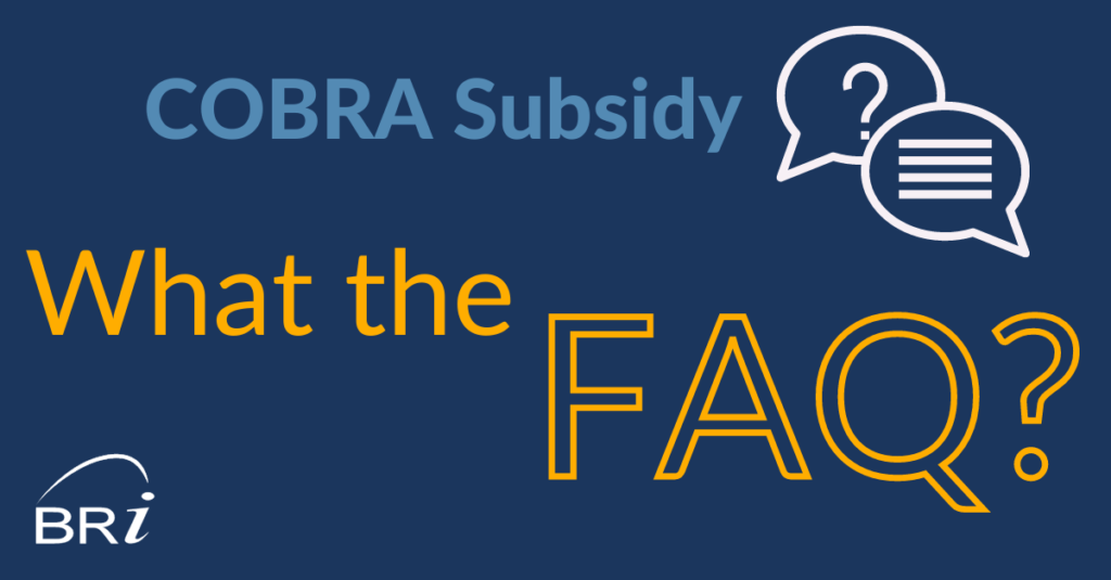 cobra subsidy faq