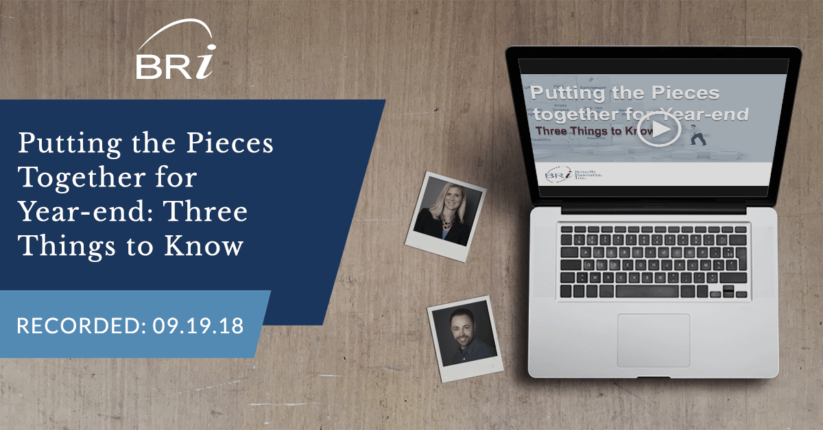 [Webinar] Putting the Pieces Together for Year-end (Recorded 09.19.18)