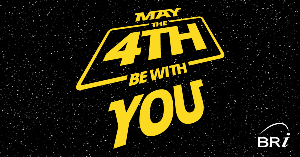 happy star wars day may the fourth be with you