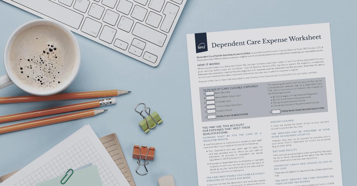 [Flyer] Dependent Care Expense Worksheet