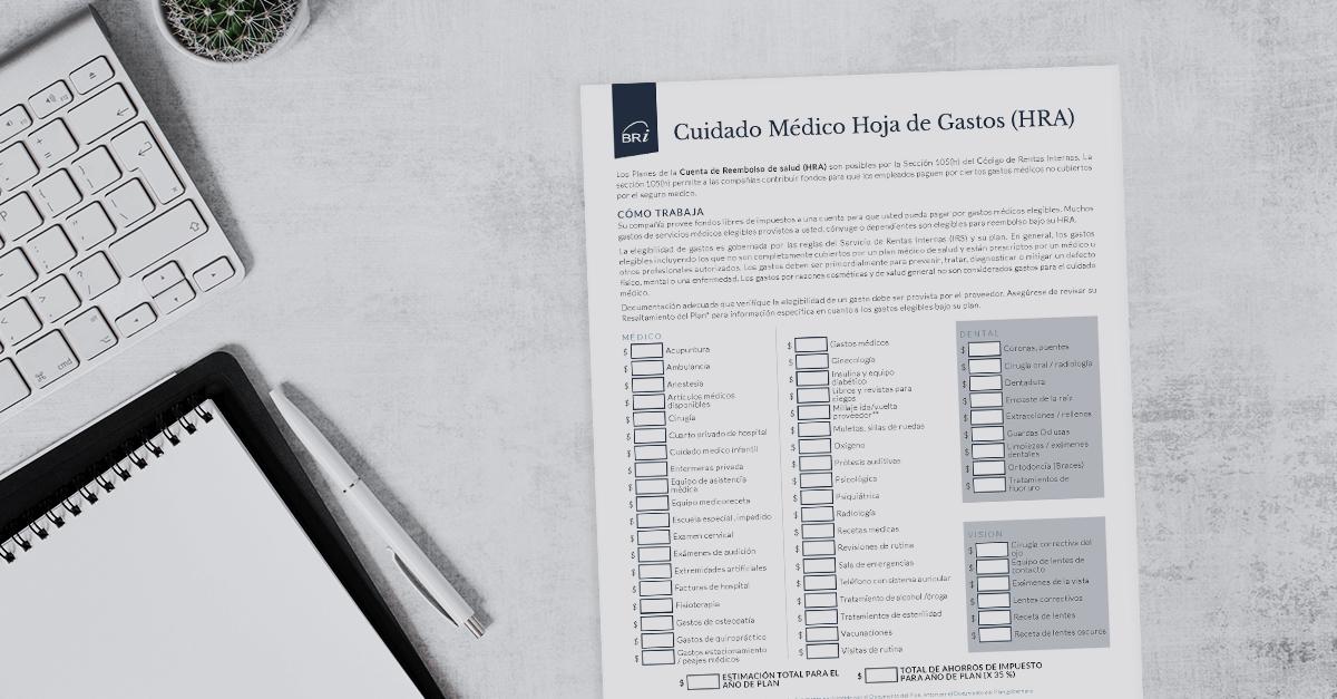 [Flyer-Spanish] HRA Medical Expense Worksheet