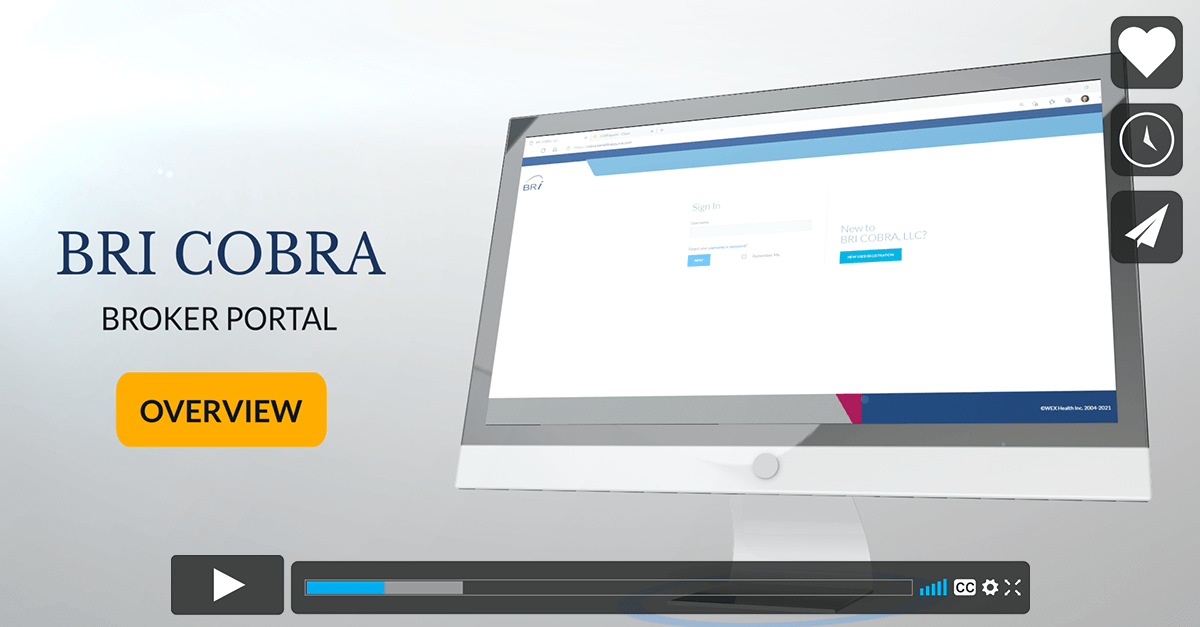 [Video] BRI COBRA & Direct Bill Broker Portal Overview
